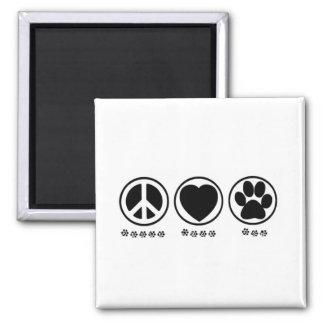 Peace Love Paw Fridge Magnets