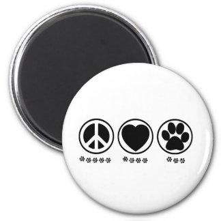 Peace Love Paw Fridge Magnet