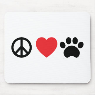 Peace Love Paw Mouse Pad