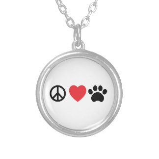 Peace, Love, Paw Necklace