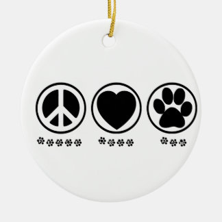 Peace Love Paw Ornament