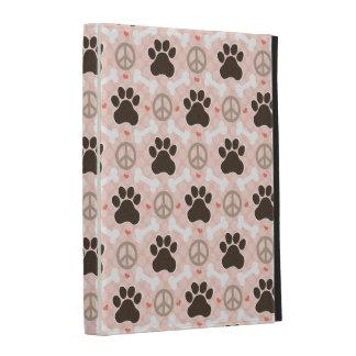 Peace Love Paw Print iPad Folio Case Cover
