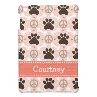 Peace Love Paw Print Case For The iPad Mini