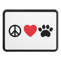 Peace Love Paw Trailer Hitch Cover