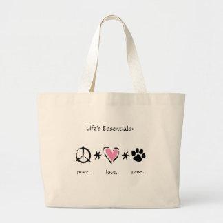 Peace * Love * Paws Bag