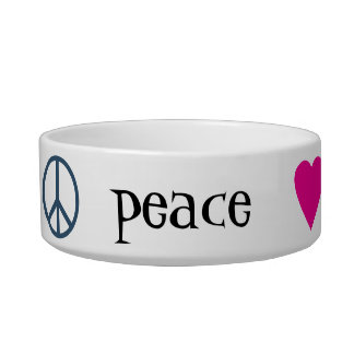 Peace Love Paws Bowl