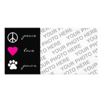 Peace Love Paws Card