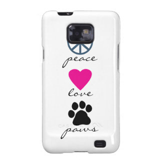 Peace Love Paws Samsung Galaxy Covers