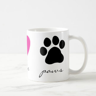 Peace Love Paws Coffee Mug