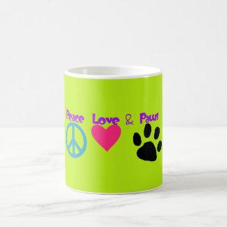 Peace Love & Paws Coffee Mug