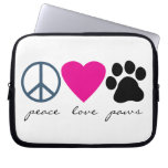 Peace Love Paws Computer Sleeve