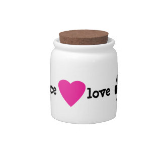 Peace Love Paws Dog Treat Candy Jar