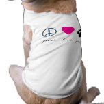 Peace Love Paws Doggie T Shirt