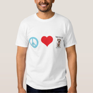 Peace/Love/Paws for Life Tee Shirt