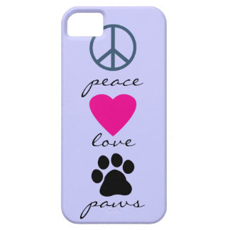 Peace Love Paws iPhone SE/5/5s Case
