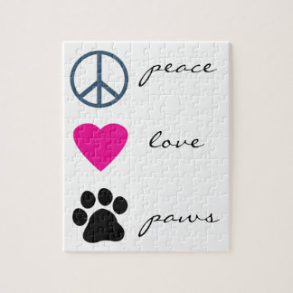 Peace Love Paws Jigsaw Puzzle