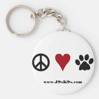 Peace-Love-Paws Keychain