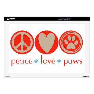 Peace Love Paws Laptop Skin