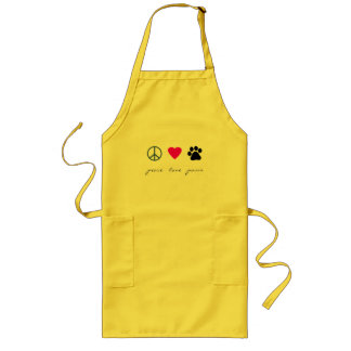 Peace Love Paws Long Apron