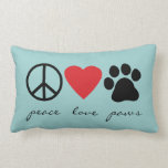 Peace Love Paws Lumbar Pillow