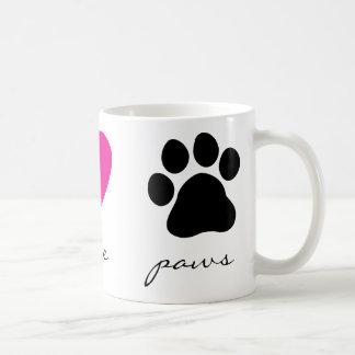 Peace Love Paws Classic White Coffee Mug