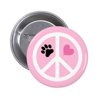 Peace, Love & Paws Pin