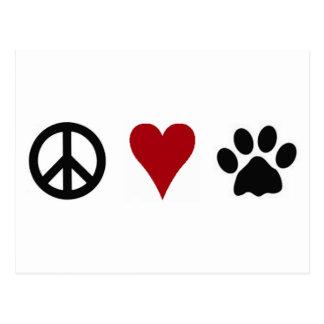 Peace-Love-Paws Postcard