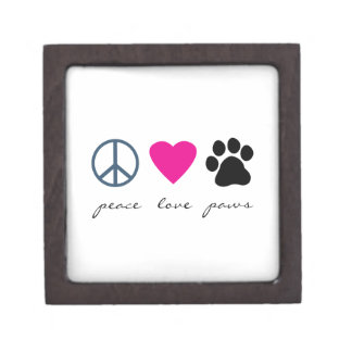 Peace Love Paws Premium Trinket Boxes