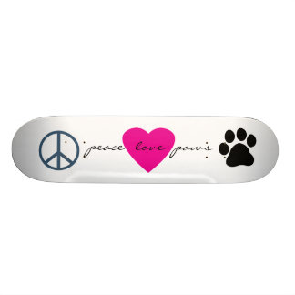 Peace Love Paws Skateboard