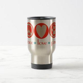 Peace Love Paws Travel Mug