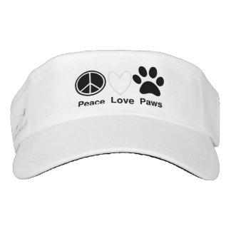 Peace Love Paws Visor