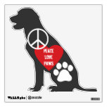 Peace Love Paws Wall Decal