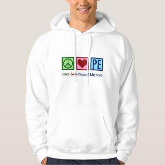 Peace Love PE Teacher Hoodie
