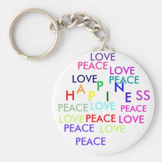 PEACE, LOVE, PEACE, PEACE, PEACE , PEACE, LOVE,... KEY CHAIN