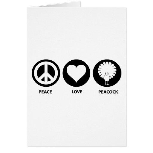 Peace Love Peacock Card