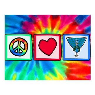Peace, Love, Peacocks Post Cards