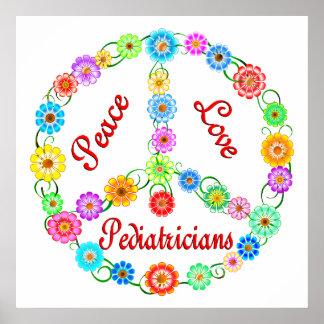 PEACE LOVE PEDIATRICIANS POSTER