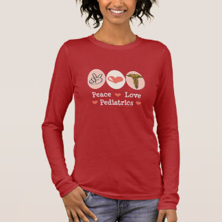 Peace Love Pediatrics Kids Long Sleeve T shirt