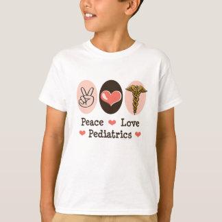 Peace Love Pediatrics Kids T-shirt