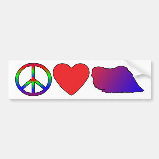 Peace Love Pekingese Bumper Sticker
