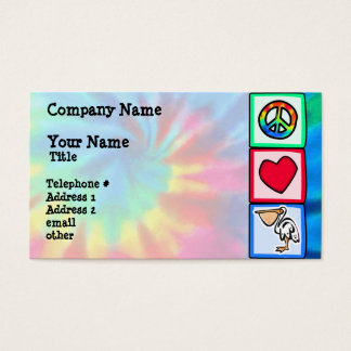 Peace, Love, Pelicans Business Card