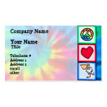 Peace, Love, Pelicans Business Card Template