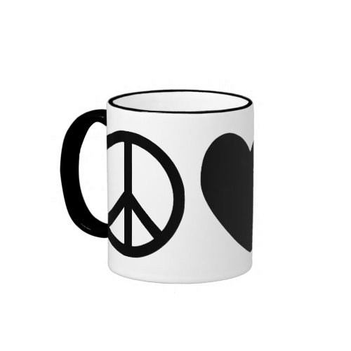 Peace, Love & Pelicans Mug mug