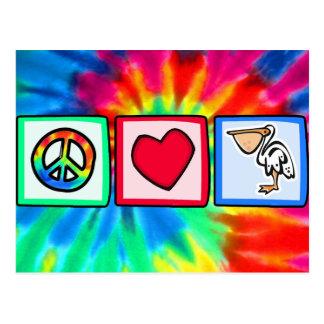 Peace, Love, Pelicans Postcard