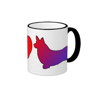 Peace Love Pembroke Welsh Corgis Mug