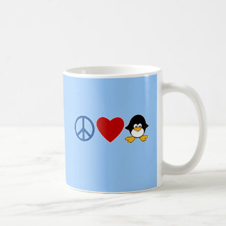 Peace Love Penguin Baby T-shirts Mugs