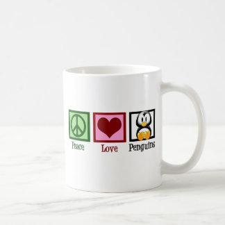 Peace Love Penguins Coffee Mug
