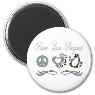 Peace Love Penguins Fridge Magnets