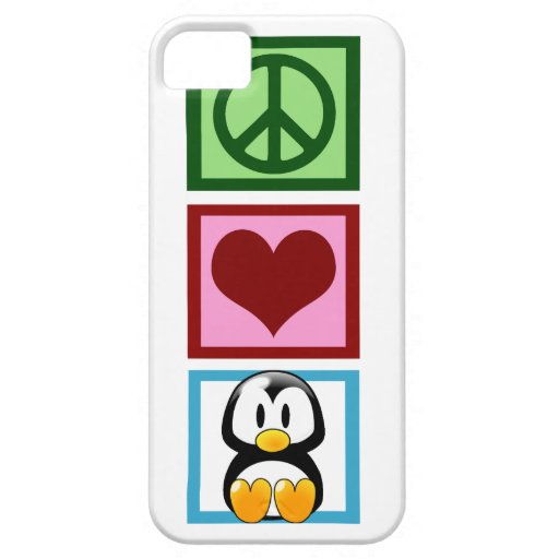 Peace Love Penguins iPhone 5 Cover