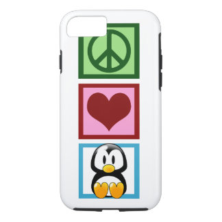 Peace Love Penguins iPhone 8/7 Case